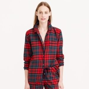 J. Crew Plaid Flannel Pajama Shirt Button Down M